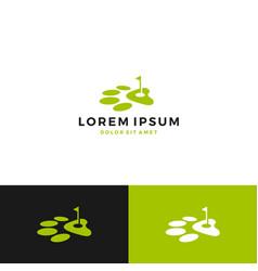 dog paw golf logo vector image