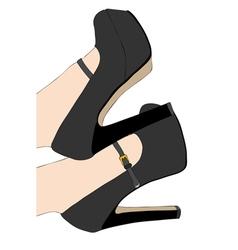Elegant shoes vector