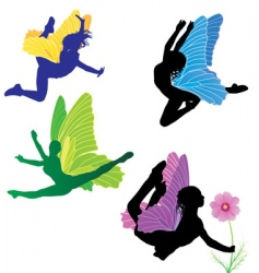 fairies set vector image