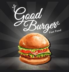 Fast food restaurant social media advertising vector