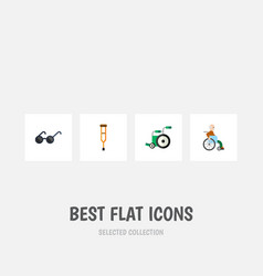 Flat icon handicapped set of stand handicapped vector
