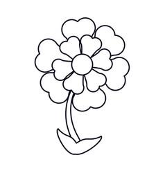 flower ornament natural outline vector image