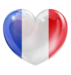French flag heart vector