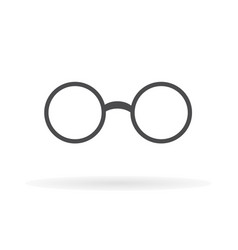 glasses icon flat design1 vector image