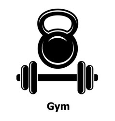 gym metall icon simple black style vector image
