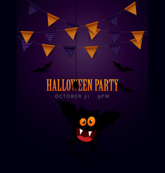 halloween poster and invitation design vector image