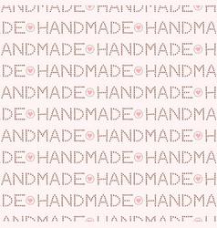 handmade love lettering seamless pattern trendy vector image