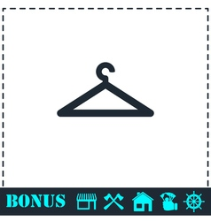 Hanger icon flat vector