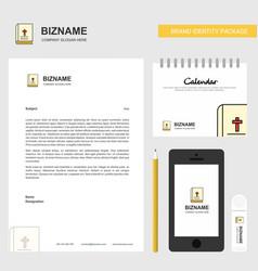 Holy bible business letterhead calendar 2019 and vector