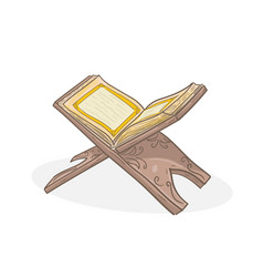 Holy book koran on stand vector