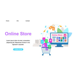 Horizontal banner with copy space online store vector