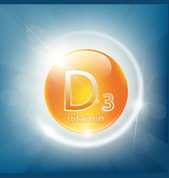 icon of calcium d3 vector image