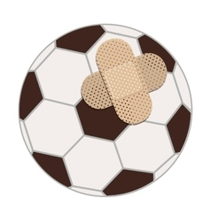 Isolated toy ball damaged design vector image