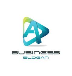 Letter a media logo vector