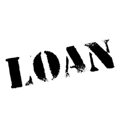 Loan rubber stamp vector image