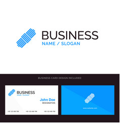 logo and business card template for rope pack set vector image