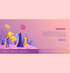 Marketing strategy homepage template vector