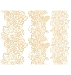 Mehndi ribbons Paisley design vector