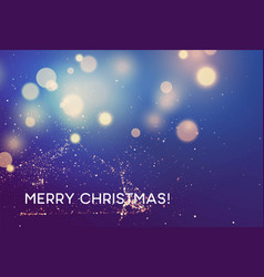 merry christmas winter blurred background vector image