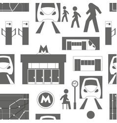 Metro underground symbols pattern vector