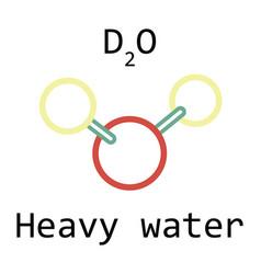 Molecule d2o heavy water vector