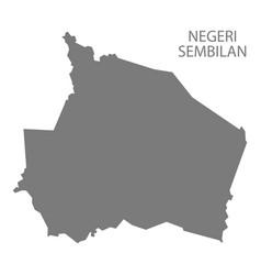 Negeri sembilan malaysia map grey vector
