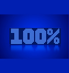 Neon frame 100 off text banner night sign board vector