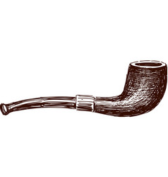 Old pipe vector