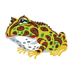 Pac-man horned frog vector
