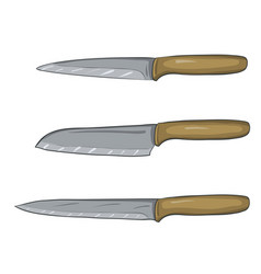 Painted of kitchen knives vector