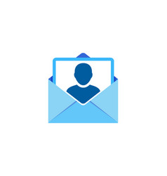 people mail logo icon design vector image