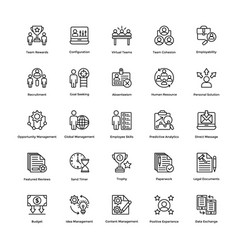 Project management line icons set 4 vector