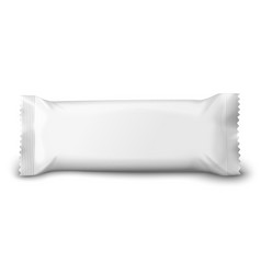 realistic 3d white chocolate or wafer pack vector image