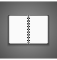 Realistic Blank Open Notebook vector image