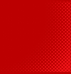 red retro halftone dot pattern background design vector image