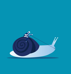 robot ride snail concept business animal vector image
