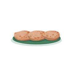 Roti traditional indian cuisine food vector