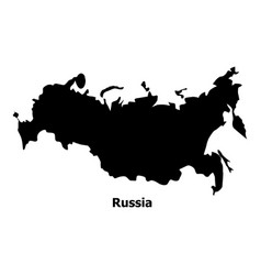 russia map icon simple style vector image