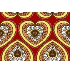 Seamless ornament of hearts vector image