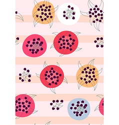 Seamless pattern background Cherries on plates on vector image