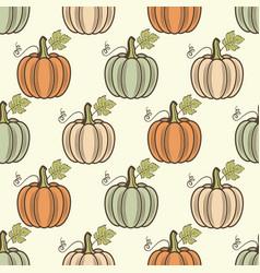 seamless pattern pumpkins vector image