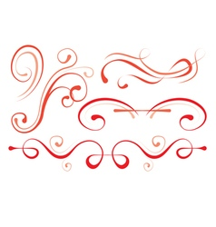 set of elements for design decorative borders vector image