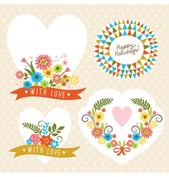 set of holiday graphic elements vector image