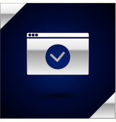 Silver secure your site with https ssl icon vector