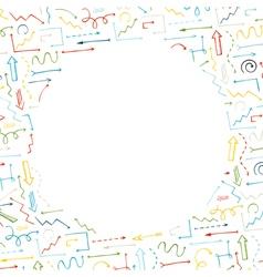 Sketchy arrows background vector