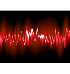 Sound waves on black background EPS10 vector