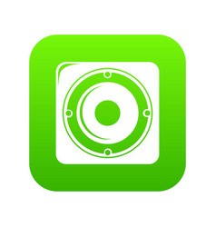 speaker icon green vector image