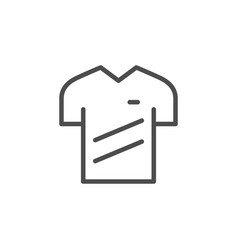 sport t-shirt line icon vector image
