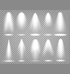 spotlight set bright light beam vector image