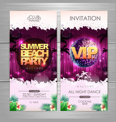 Summer party poster design summer beach party vector